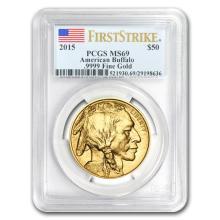 2015 MS 69 First Strike 1 oz Gold Buffalo PCGS