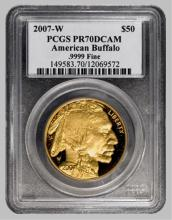 2007 W PROOF 70 PERFECT! Gold Buffalo PCGS