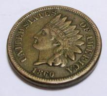 1860 CIvil War Era Indian Head Cent XF-AU