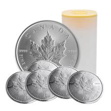 Canadian Mint Roll of (25) Maple Leaf's Silver