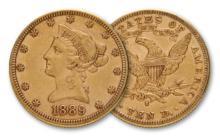 1889 s $ 10 Gold Liberty - Gold Eagle