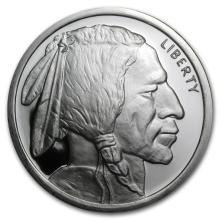 5 oz. Silver Buffalo Round Design