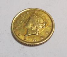 1852 O Better Date $ 1 Gold Liberty