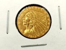 1912 $ 2.5 Gold Indian Quarter Eagle