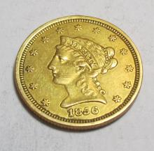 1856 $ 2.5 Gold Liberty - As found