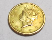 1854 $1 Gold Liberty As Found