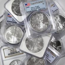 Lot of (20) US Silver Eagle MS 69 NGC-PCGS