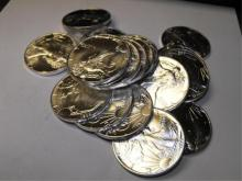 (20) Random Dates US Silver Eagles