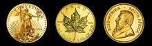 So. African-Canadian-US Gold Bullion Lot 3 oz..