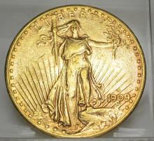 1909 S Better Date $ 20 Gold Saint Gauden's