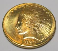 CH BU $10 Gold Indian 1932 w/ MINT LUSTER