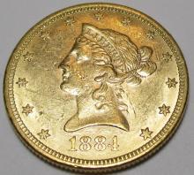 1884 $ 10 Gold Eagle High grade