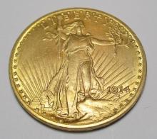 1914 $ 20 Gold Saint Gauden's Better Coin