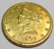 1906 D $ 10 Gold Liberty