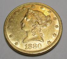 1880 $ 10 Gold Liberty Eagle High Grade