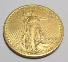 1908 $ 20 Gold Saint Gauden's Double Eagle