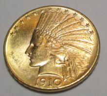 1910 D Better Date $ 10 Gold Indian Eagle