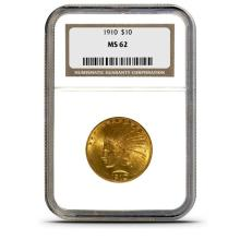 1910 MS 62 $ 10 Gold Indian NGC