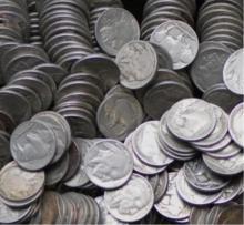 Lot of 100 RD Buffalo / Indian Head Nickels