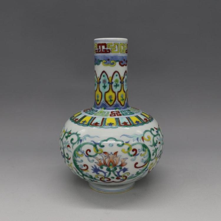 Chinese Qing Dynasty Colorful Glazed Porcelain Bowl