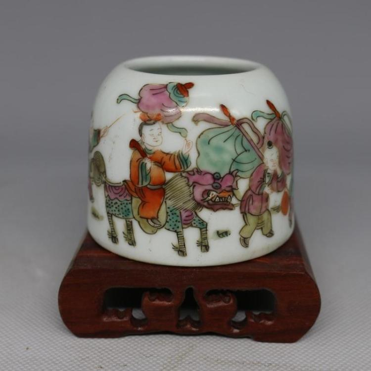 Tongzhi Colorful Glazed Kylin Porcelain Water Pot
