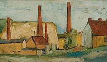 Jerzy Nowosielski (1923 - 2011) Landscape with a Factory, before 1949