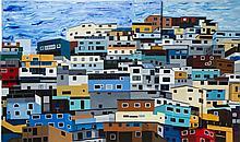 Klaudia Swiatczak-Pjanka (b. 1988) Billowing sky above the favelas, 2014