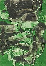 Alfred Lenica (1899 - 1977) Abstract Composition in Green, 1957