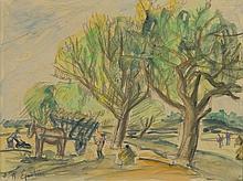 Henryk Epstein (1891 - 1944) Landscape with Cart