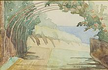 Maria Ewa Lunkiewicz-Rogoyska (1895 - 1967) Landscape from Brittany, 1923