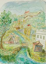Chaim Goldberg (1917 - 2004) Kazimierz Dolny, 1996