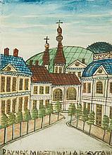 Nikifor Krynicki (1895 - 1968) City View