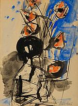 Zygmunt Jozef Menkes (1896 - 1986) Woman with Poppies