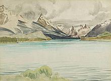 Rafal Malczewski (1892 - 1965) Mountain Landscape