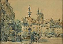 Wladyslaw Chmielinski (1911 - 1979) Old Town in Warsaw