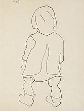 Wladyslaw Strzeminski (1893 - 1952) Standing child seen from the back, 1949
