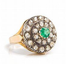 Ring with emerald, 19th/20th Century