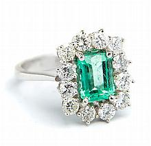 Ring with emerald, Western Europe, 20th Century
