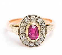 Ring with ruby, Western Europe, 19th/20th Century