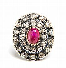 Ring with ruby, Western Europe, Late 19th Century