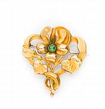 Brooch with flower motif, Late 19th Century