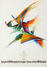 Karol Sliwka (b. 1932) Games of the XXIII Olympiad - Los Angeles, 1980s