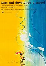Janusz Grabianski (1929 - 1976) Holidays at the seaside