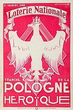 Louis (Ludwik Kazimierz) Marcoussis (Markus) (1878 - 1941) Loterie Nationale - Tranche de la Pologne Heroique, 1939