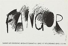Wojciech Fangor (1922 - 2015) The poster for the exhibition in Summit Art Center w New Jersey , 1973
