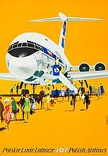 Janusz Grabianski (1929 - 1976) Polish Airlines LOT, 1970s