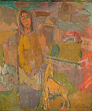 Zygmunt Landau (1898 - 1962) A Girl with a goat