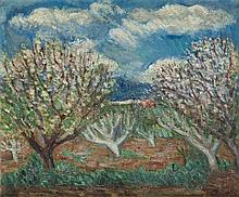Max Band (1900 - 1974) Blossoming trees, after 1954