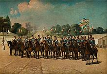 Michal Chylewski, Attributed (1787 - 1848) A group of soldiers