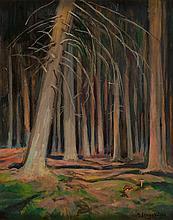 Henryk Szczyglinski (1861 - 1944) In the forest